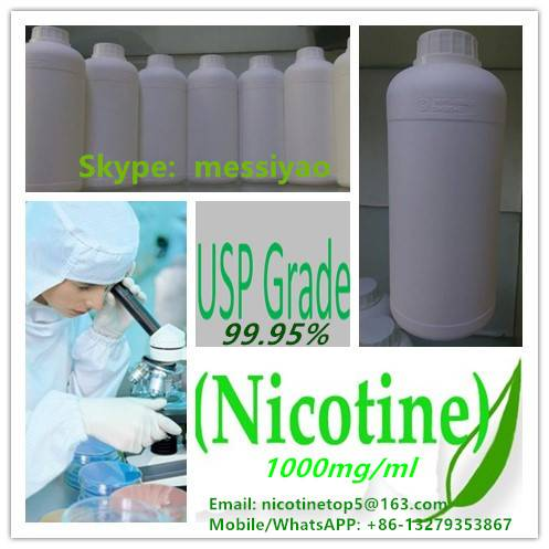 We hot sell pure nicotine/USP 99.95% Nicotine