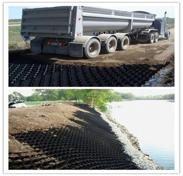perforated geocell used in road construction