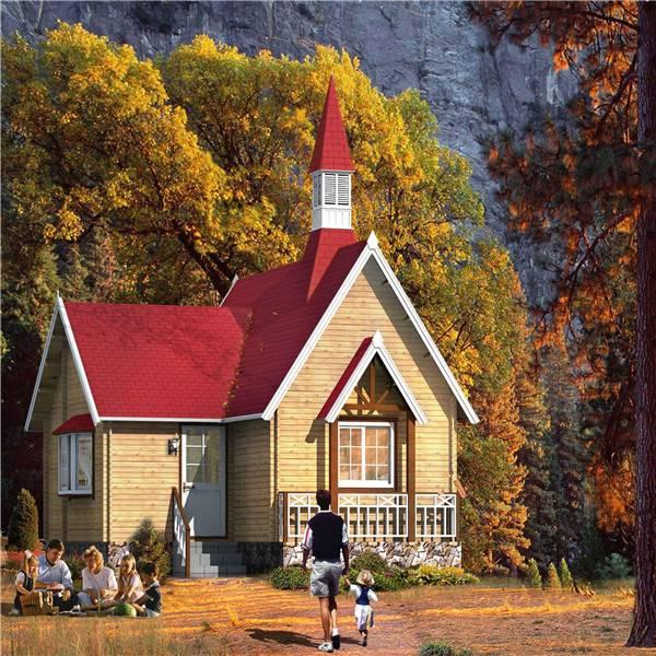 American Country style big prefab wooden villa