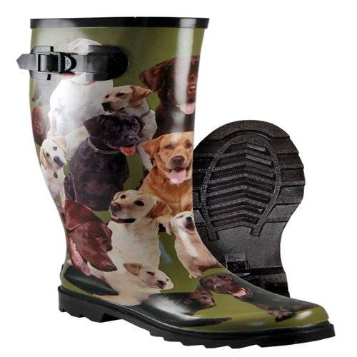 3D rubber boots water proof construction
