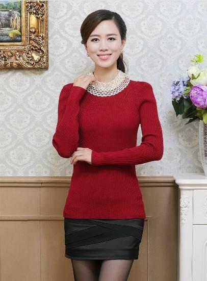 Fashion women knitted base shirt/bottoming shirt/long sleeve undershirt