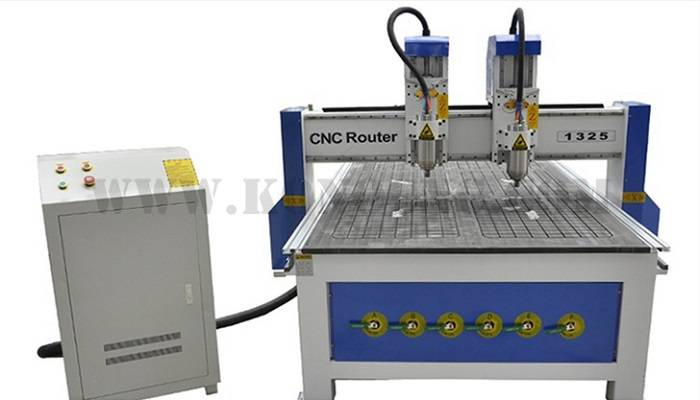 double head wood cnc router machinery with vacuum table 1325E