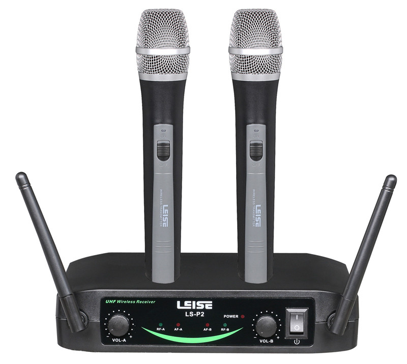 Ls-P2 PRO-Audoio Dual Channel UHF Wireless Microphone