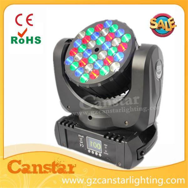 CANSTAR led beam moving head light 36x3w RGBW