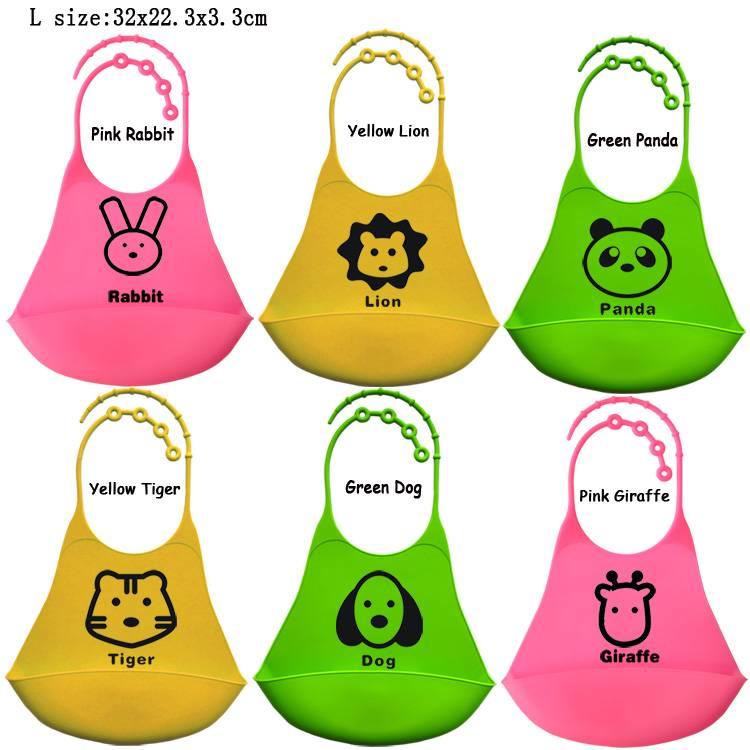 Food-grade Silicone baby bib large size
