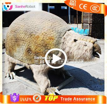Sanhe robot Life size vivid animatronics Glyptodons prehistorical life size resin animal for sale