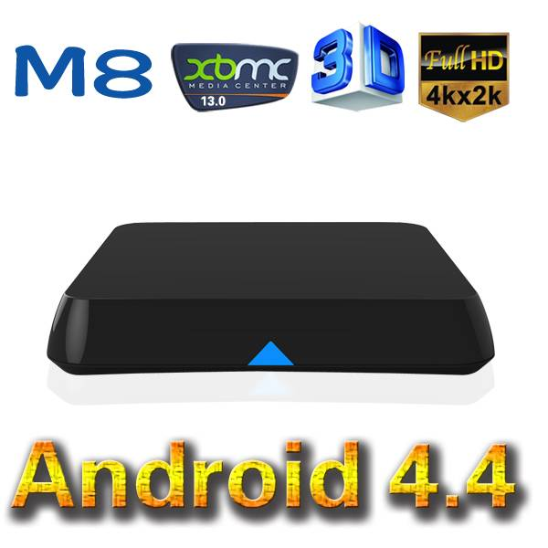 Quad Core Amlogic S802 Android 4.4 Dongle Mini PC TV Cloud Box CPU Speed 2.0GHz (M8)