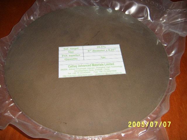 Tantalum carbide (TaC) target