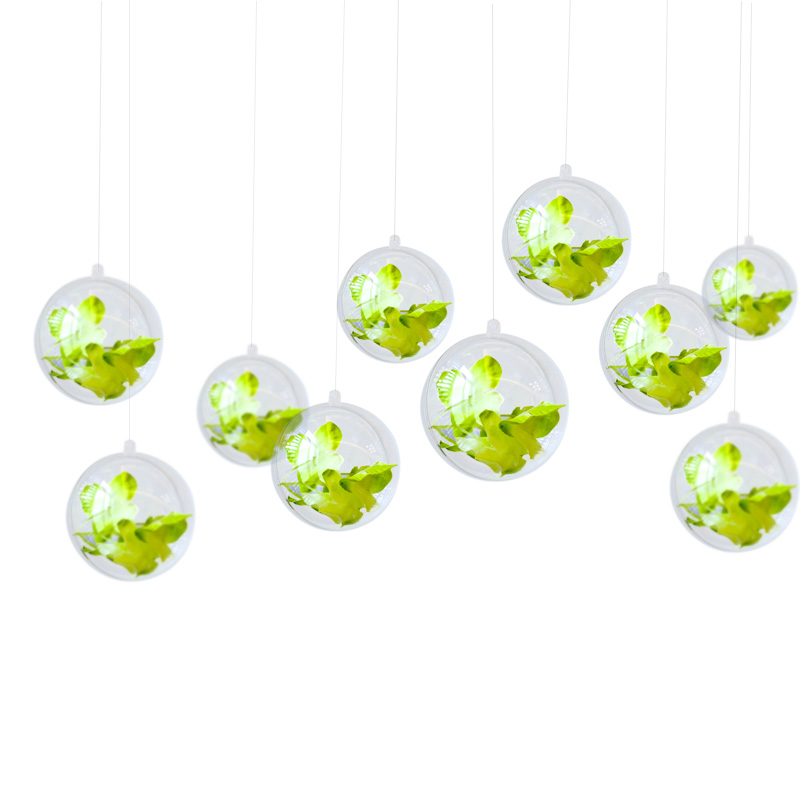 Clear custom logo decoration christmas plastic christmas decoration ball