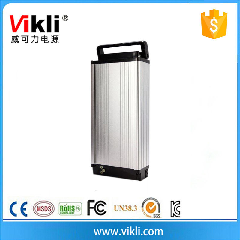 36V rear rack electric battery 10Ah for electri bicycle