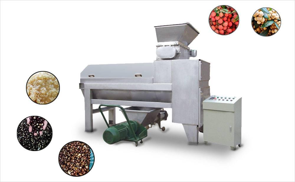 Lychee(litchi,lichee)Longan Peeling, Pitting, Crushing Machine