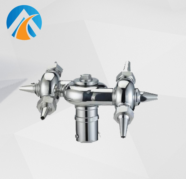 Sanitary stainless steel ox horn rotary cleaning ball