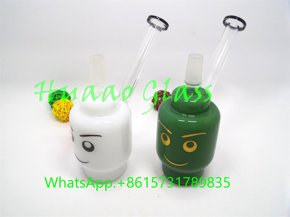 newest Smoking Water Pipes Water Bongs white and green two color