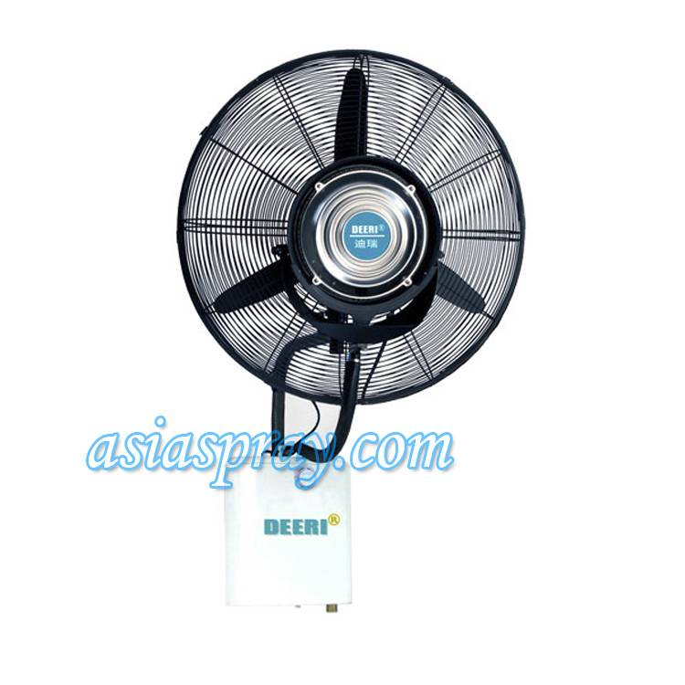 Deeri Top modern wall mounted mist water spray fan with rainproof of factory direct supply