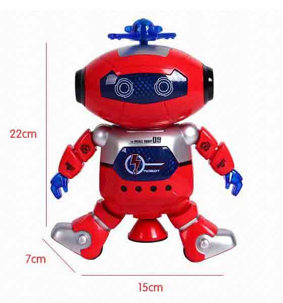 Music dancing lighting flashing intelligent kids baby Spaceman plastic Robot toy