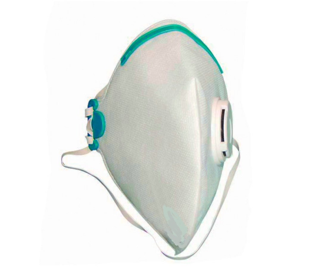 Folded respirator mask - FFP2 and N95 approved