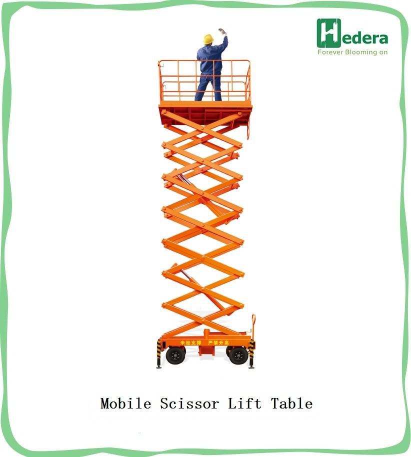 14M high quality electric scissor lift platform(with CE)