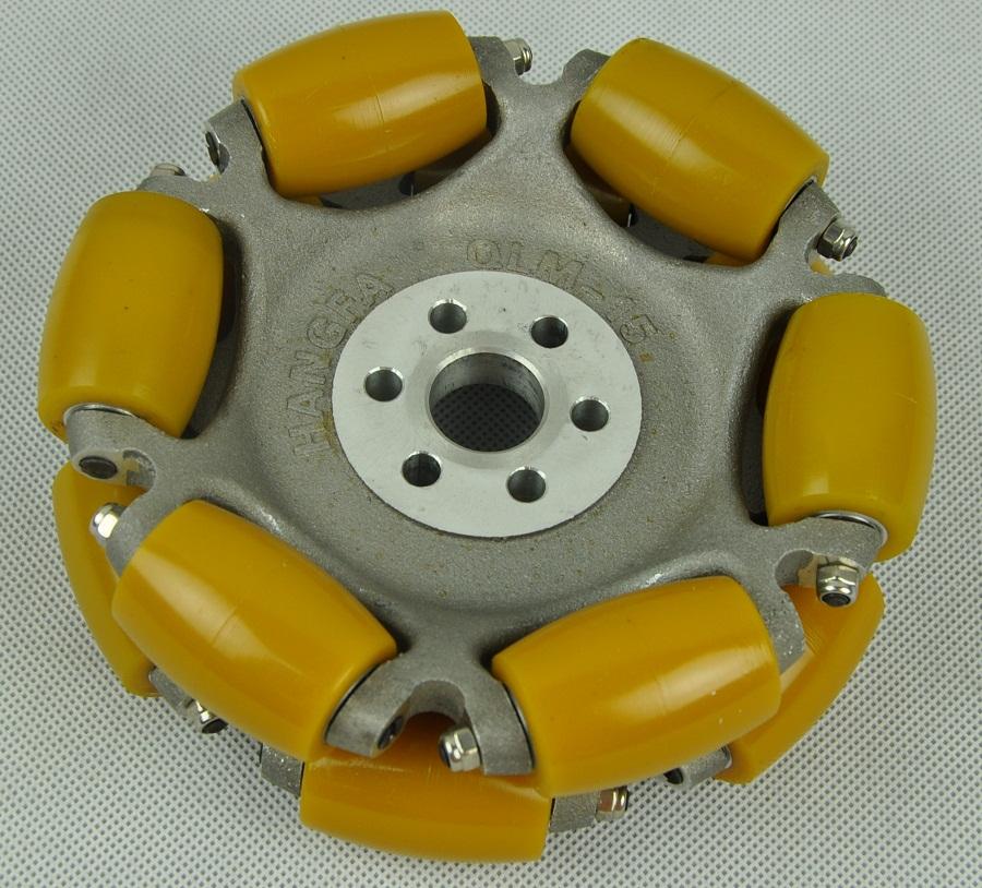 152.4mm aluminum hub mold in one AGV omni wheel