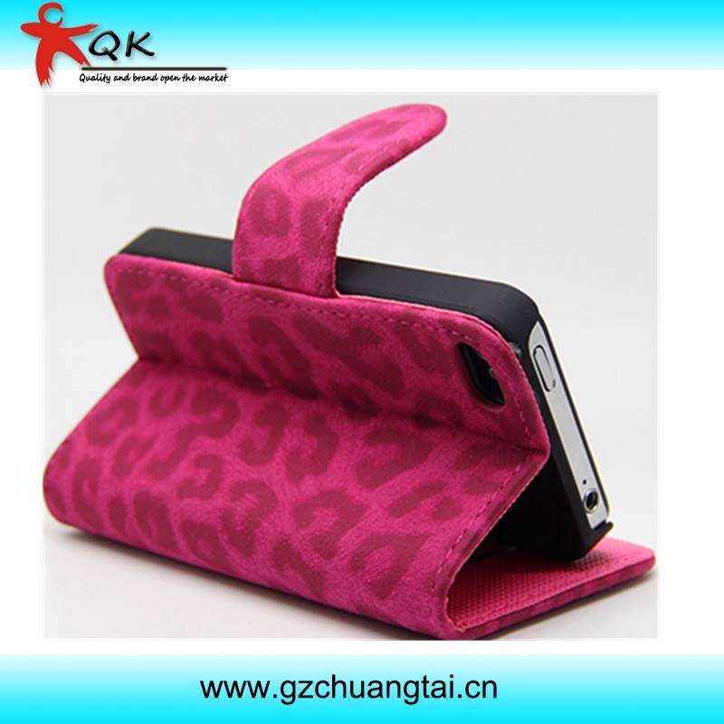 Hot Selling Cheap Lether Mobile Phone Case for iphone 4