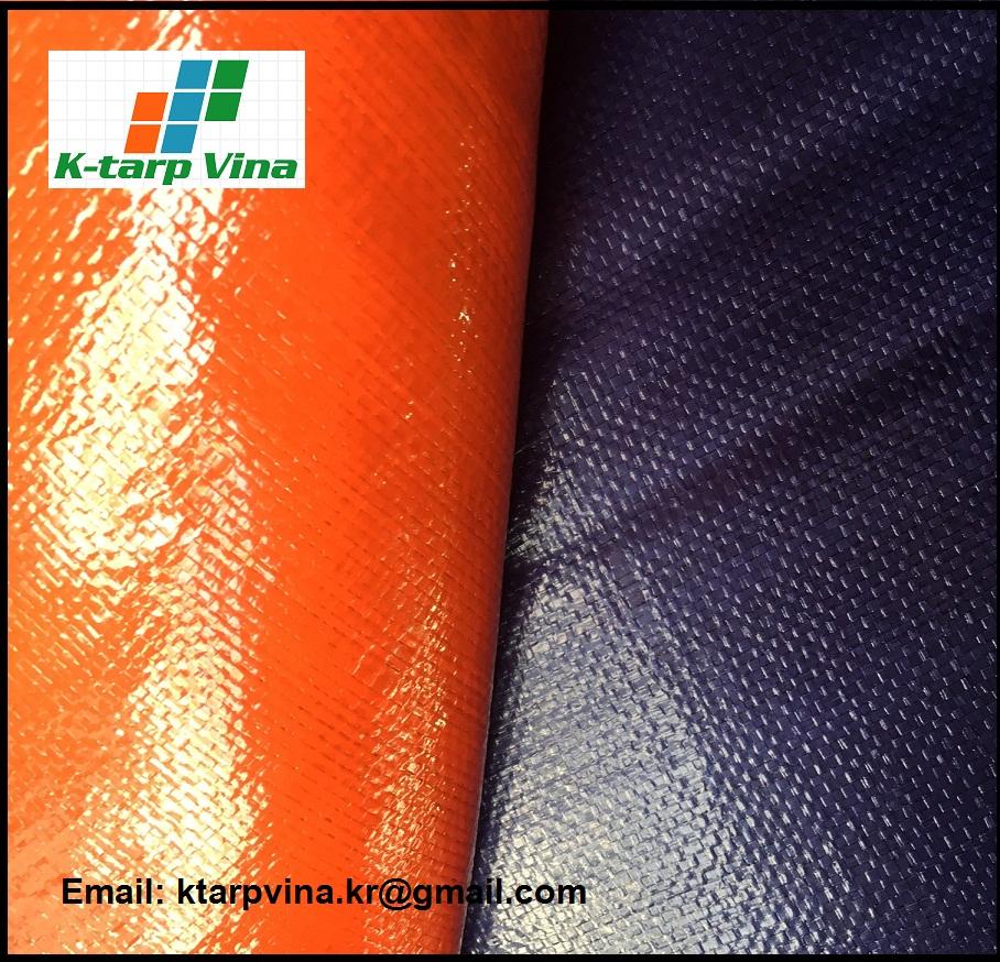 Heavy duty tarpaulin, canvas, Dark Blue/Orange Tarpaulin, Logo printing