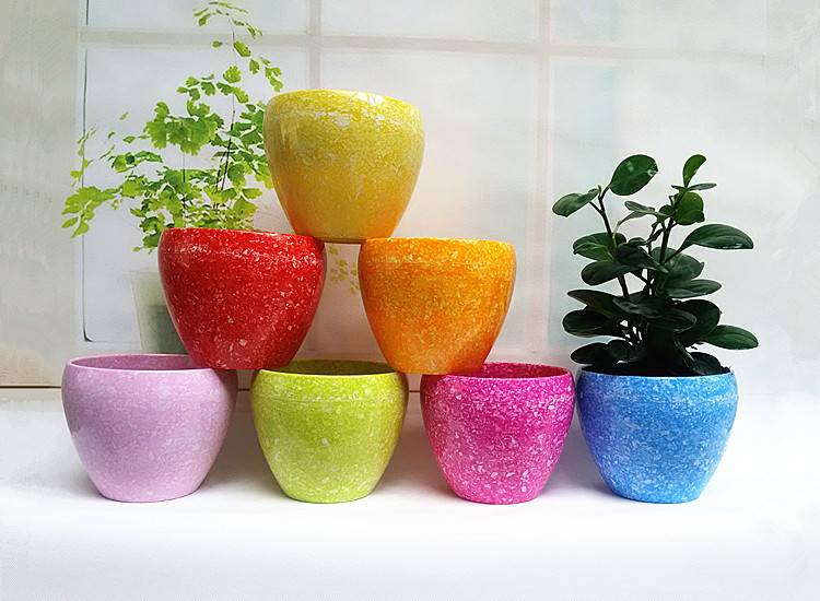 Melamine bowl shaped flowerpot