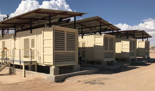 9600 KW Perkins Containerized Diesel Generator Power Plant