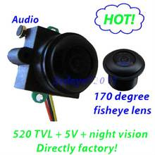 520TVL,0.008Lux night vision,170deg High quality mini fish eye camera with audio