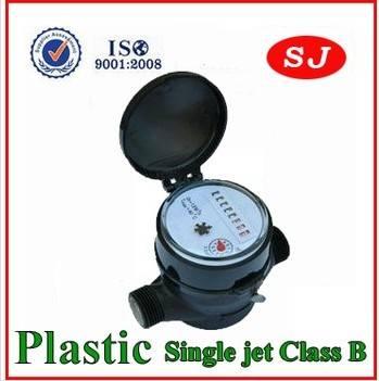 Single Jet Water Meter Plastic Body Class B-H LXSC-13S