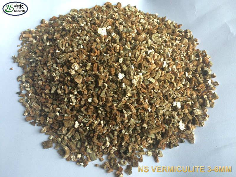 Raw/Expanded Vermiculite for horticulture, fireproofing, industry, packing loose materials, insulati