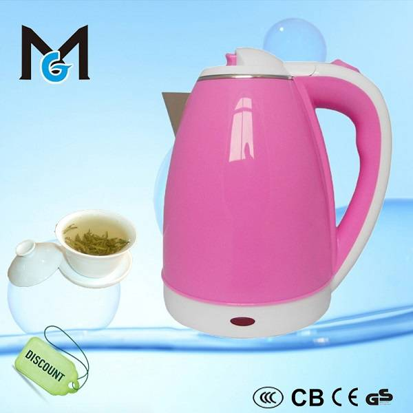 colorful electric kettle with double wall