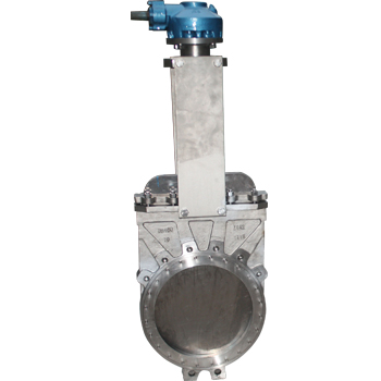 Titanium knife gate valve