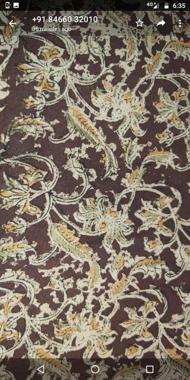 Kalamkari fabric with natural dying