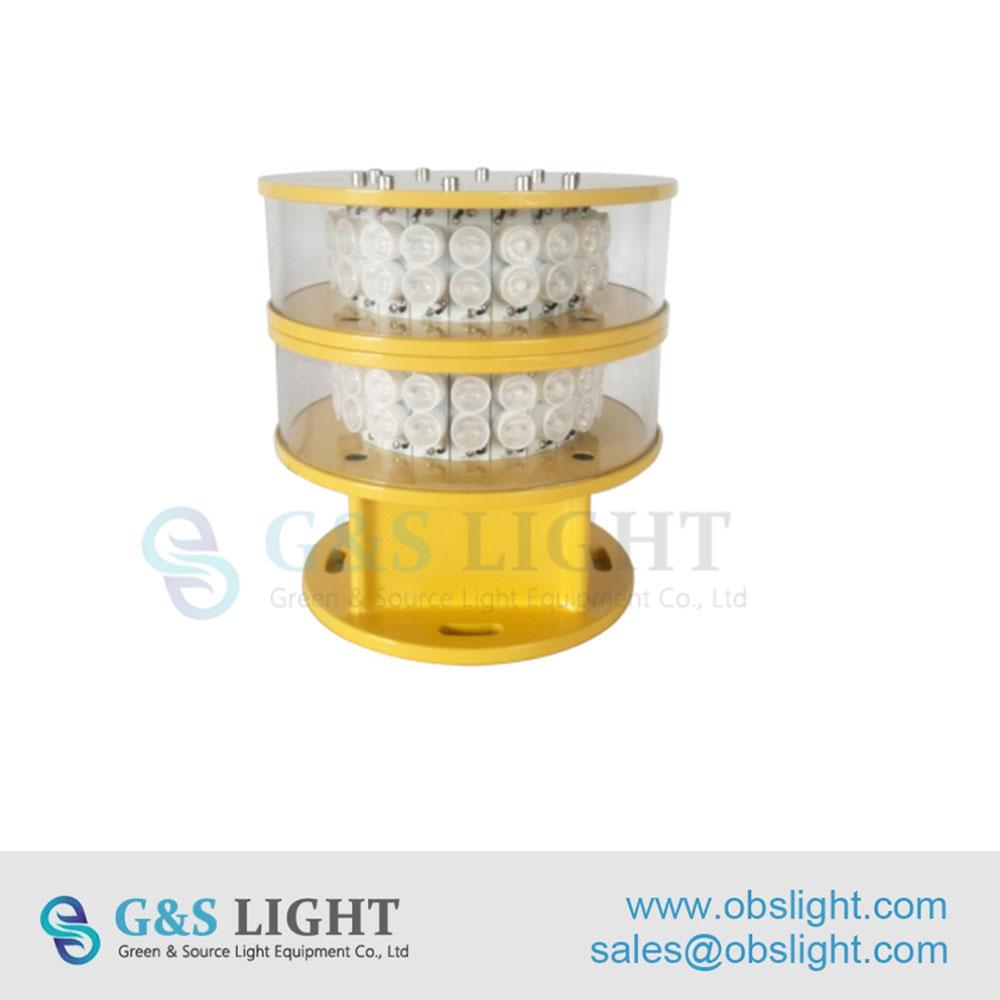 Medium intensity Double Color Aviation Obstruction Light