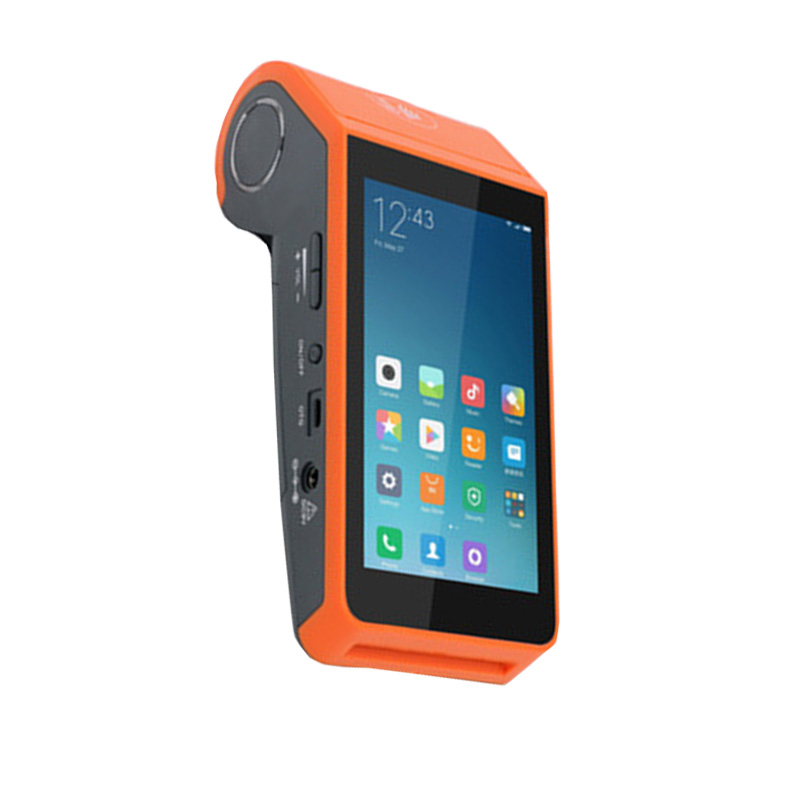 High quality android handheld pos with receipt printer and 2D code scanner