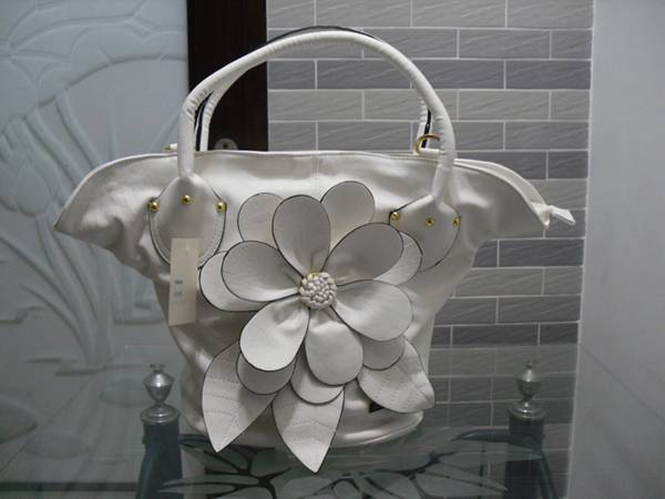 PU Leather White Ladies Shoulder Handbag Purse Bag New