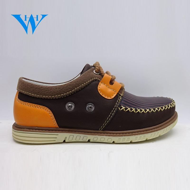 High quality wholesale custom boys casual shoes kids PU leather loafers