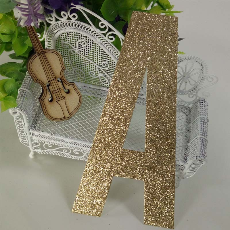 Christmas festival decor glitter craft letter paper