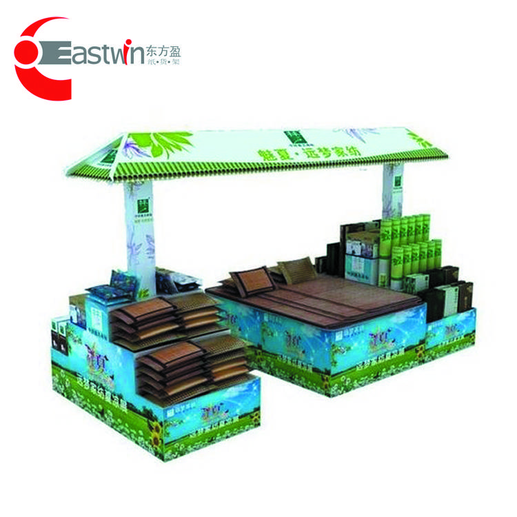 Supermarket POS Corrugated Paper Tray Display Shelf