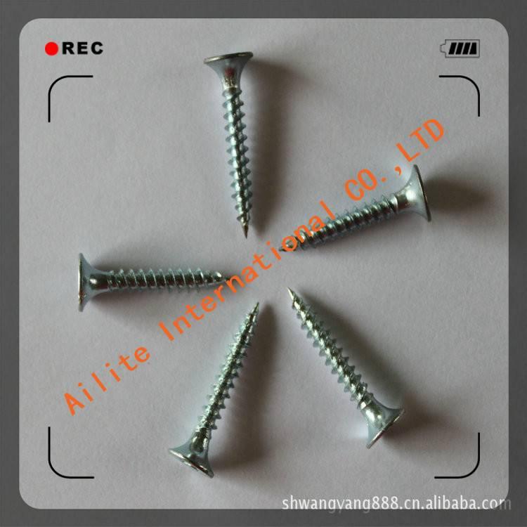 Pozi Oval Countersunk Trim Head Zinc Plated Chipboard Screws made in China