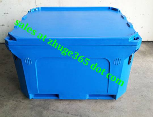 Oversized 600L Blue Insulated Fish Container
