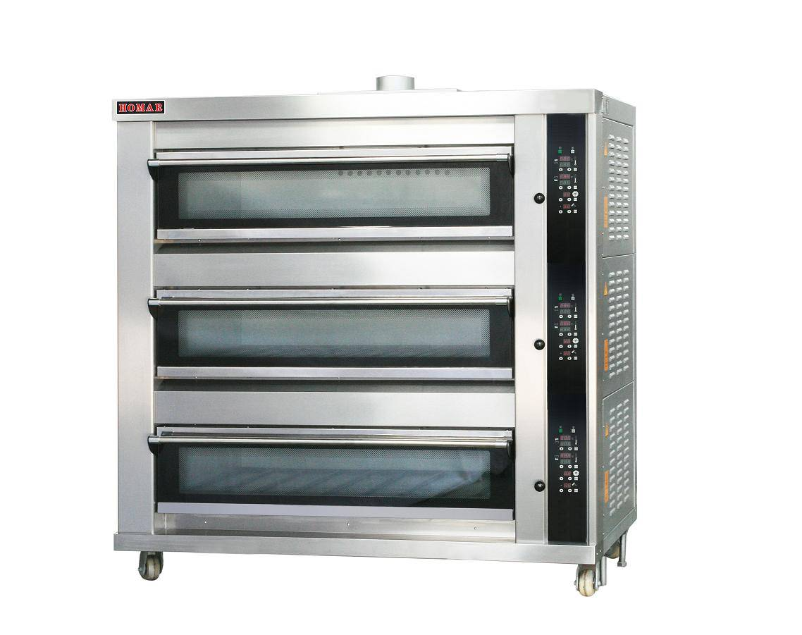 3 decks 9 trays electric deck oven