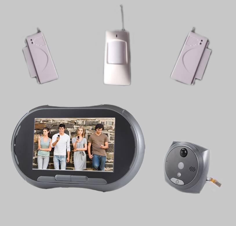GSM video doorphone with sensors