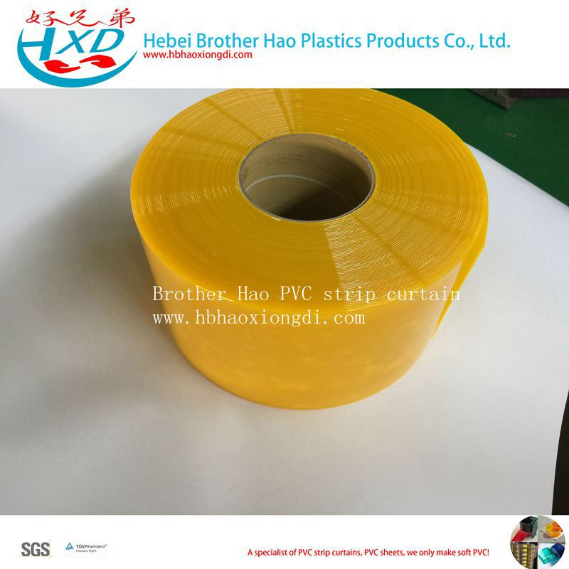 Yellow Frosty Bulk Stock Plastic Vinyl PVC Door Curtain Strip