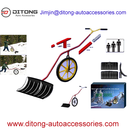 New Design adjustable car trunk snow shovel with wheels