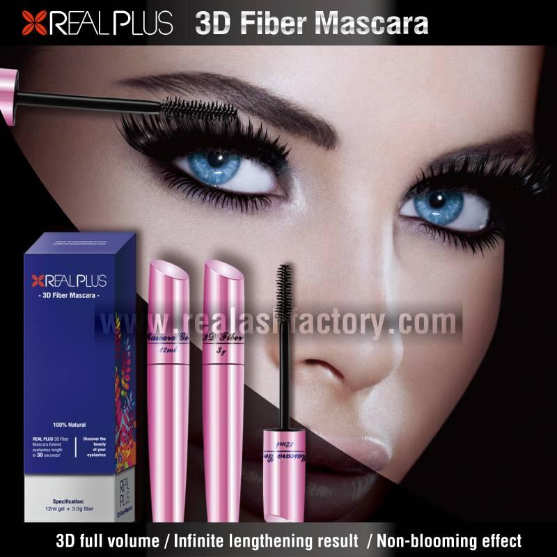 REALPLUS waterproof 3D Fiber Eye Lash Mascara Distributor