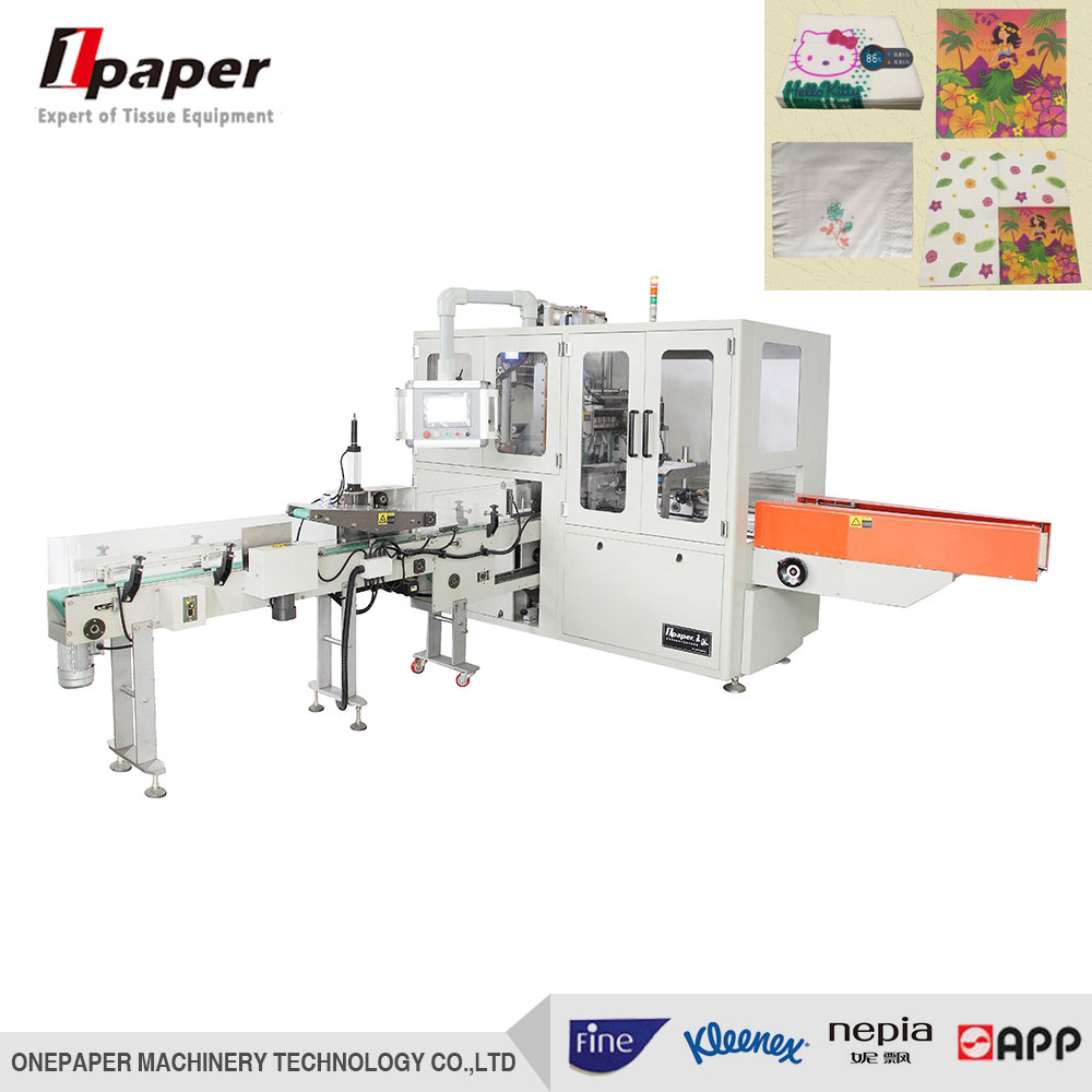 automatic paper napkin packing making machine
