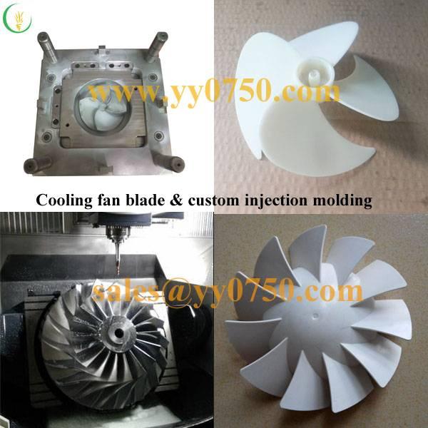 Cooling fan blade & custom injection molding