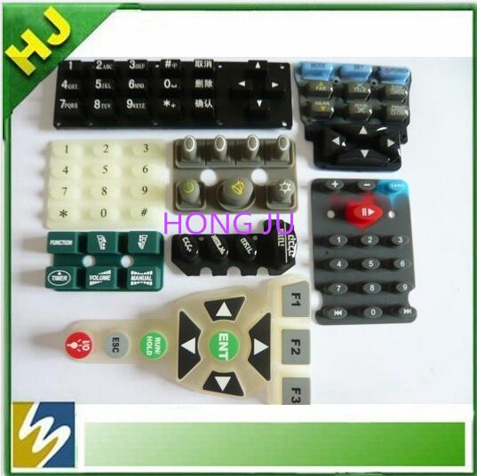 Supply Silicone keypad with crystal cap