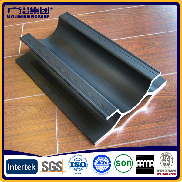 Powder Coating Aluminum Extrusion Profiles Wood Effect Impact Resistance