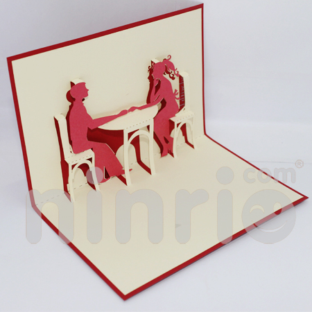Dating Pop Up Card Handmade Greeting Card